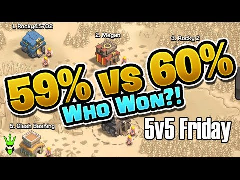 THIS WAR WAS WON BY 1%!! - 5v5 Friday - Warring By Myself! - Clash of Clans