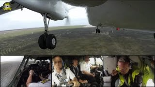 STUNNING VIEWS! Antonov 26 performs landing with unique Outside & Cockpit Cams, Air Urga! [AirClips]
