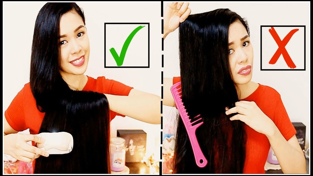 How To Properly Brush Comb Detangle Knots On Your Hair To Avoid Breakage Split Ends Beautyklove Youtube