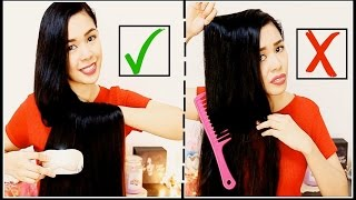 How To Properly Brush/ Comb & Detangle Knots on Your Hair To Avoid Breakage & Split Ends-Beautyklove