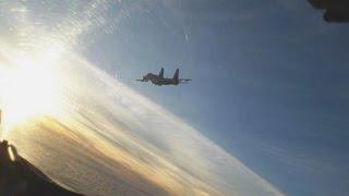 Перехват НАТОвского самолета Су 27 - воздушный контакт