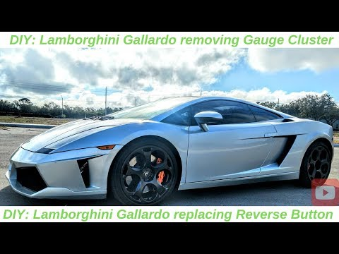 DIY: Lamborghini Gallardo gauge cluster removal and reverse button replacement