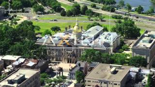 New Jersey State House, Trenton Aerial Stock Footage Videos | AX82_065
