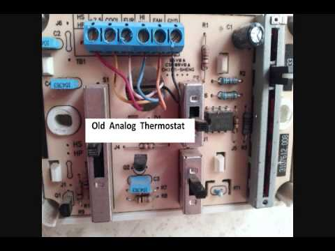 Replaceing Rv thermostat with Honeywell digital thermostat  YouTube