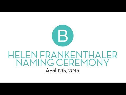 Dedication of the Helen Frankenthaler Visual Arts Center