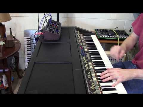 Behringer Model D interfaced with polymoog (by Synthpro)