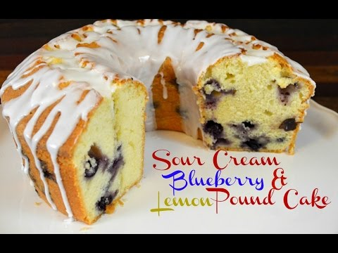 Sour Cream Blueberry And Lemon Pound Cake Recipe |Cooking With Carolyn
