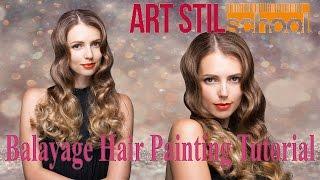 Balayage Hair Painting Tutorial