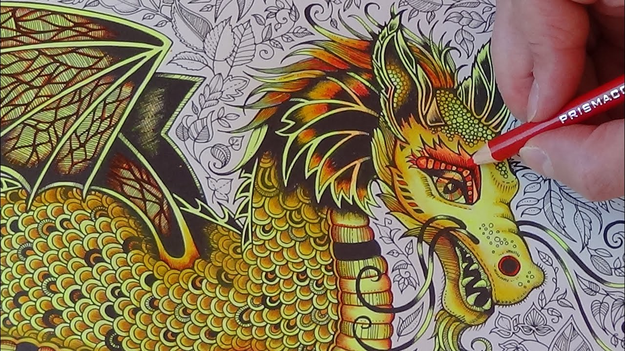 How I Color A Golden Dragon Tutorial 1 Prismacolor