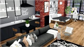 The Sims 4 |  Urban Industrial Studio Apartment | Speed Build + Download Links