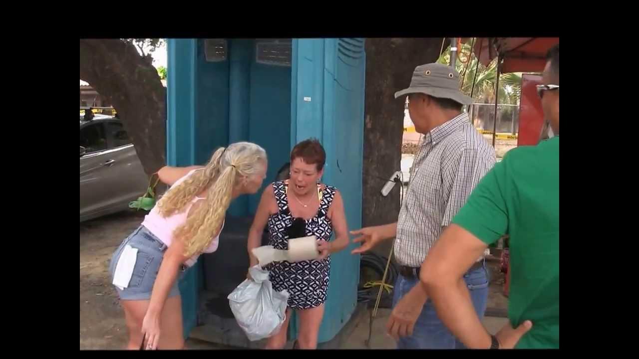 Women Peeing Wetting Television