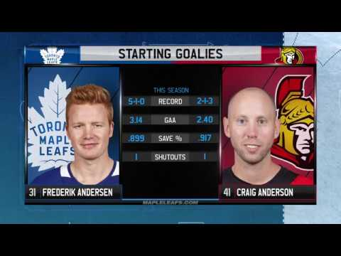Molson Canadian Game Day: Toronto at Ottawa - October 21, 2017