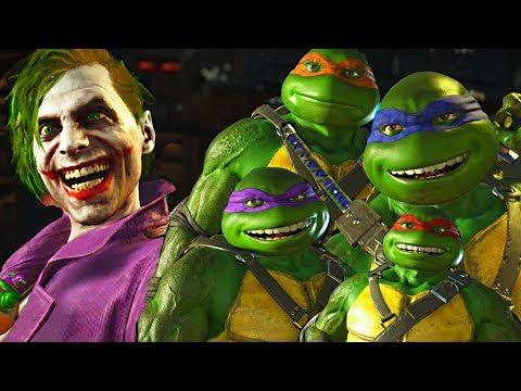 Injustice 2 - Ninja Turtles vs Joker All Intro Dialogue