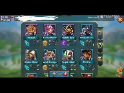 Lords Mobile * Hero Stage Elite  7-15 . Hero Level 58 .