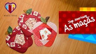 Jogo Americano em patchwork As maçãs – Maria Adna Ateliê