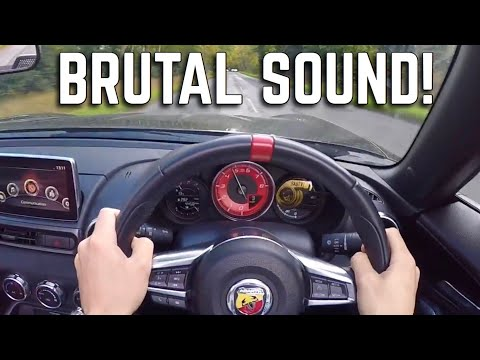 POV Drive + Onboard Acceleration 0-60 - New Abarth 124 Fiat Spider | CRAZY LOUD Exhaust Sound!