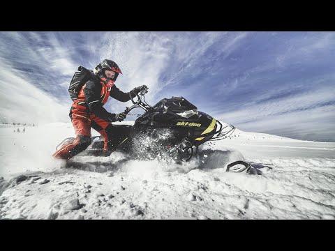 4 сек до СОТНИ ПО СНЕГУ! Первый раз на ДИКИХ снегоходах в горах. SkiDoo и Lynx