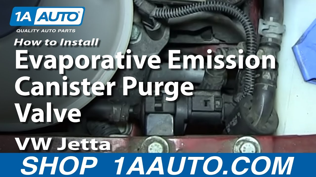 How To Install Replace Evaporative Emission Canister Purge Valve VW Jetta  YouTube