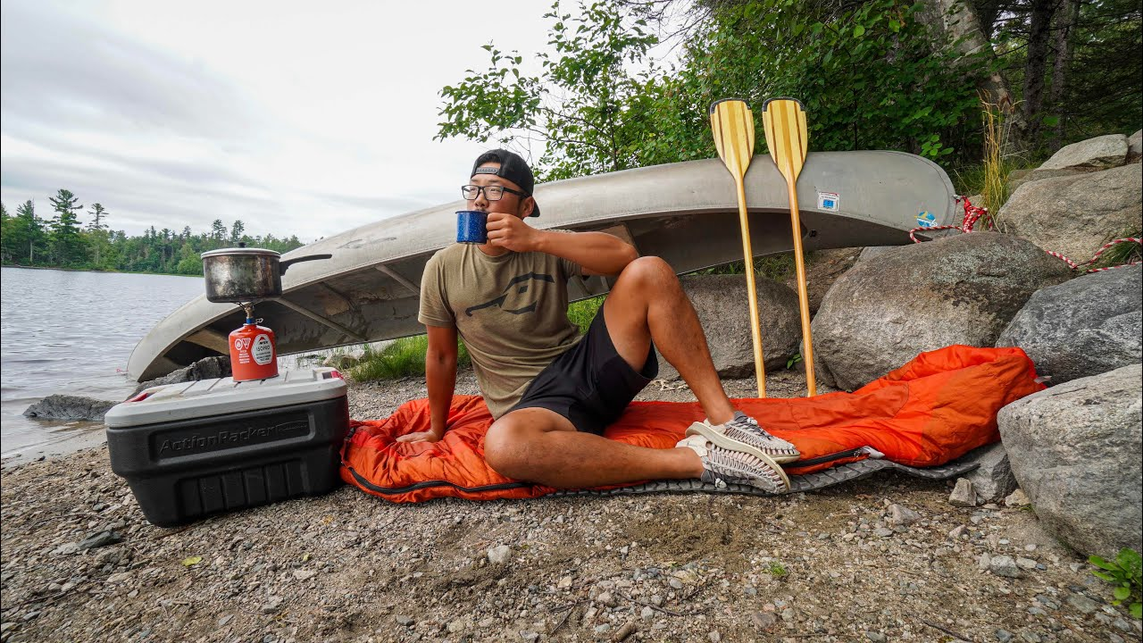 72 Hour Canoe Camping Survival Challenge! (Backcountry Canoe Trip)