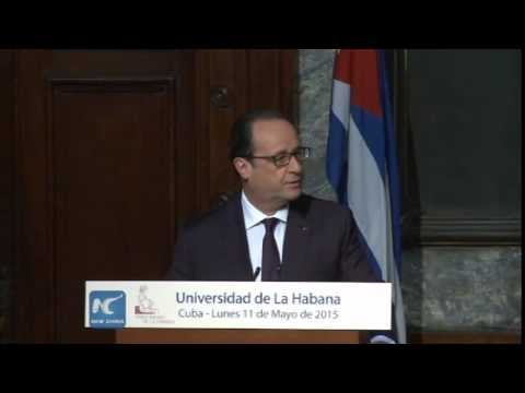 French President Hollande calls for end to U.S. embargo on Cuba