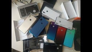 Бампера Element Solace Carbon Fiber Hello Beyourself glass Nillkin Frosted для Xiaomi Redmi Note 7