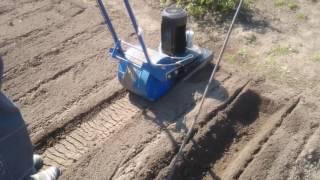 Лоплош. Испытания в работе. Electric cultivator of the soil.