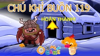 Chú khỉ buồn 119 - Hướng dẫn chơi game chú khỉ buồn bắc cực   Game24H