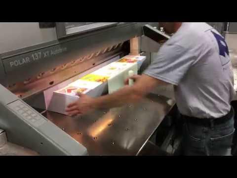 Paulson Press printing greeting cards.