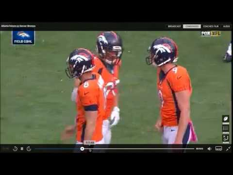 Paxton Lynch QB Denver Broncos Film Review vs Falcons