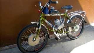 Электробензо гибрид - мотор-колесо 1500 W - бензо мотор 80 кубиков