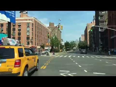 Driving Downtown - SoHo Street - New York City NY USA