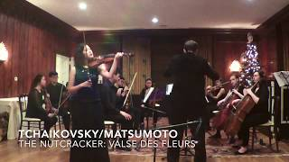 P. I. Tchaikovsky:  The Nutcracker -  Valse des Fleurs for solo violin, strings and harp (piano)