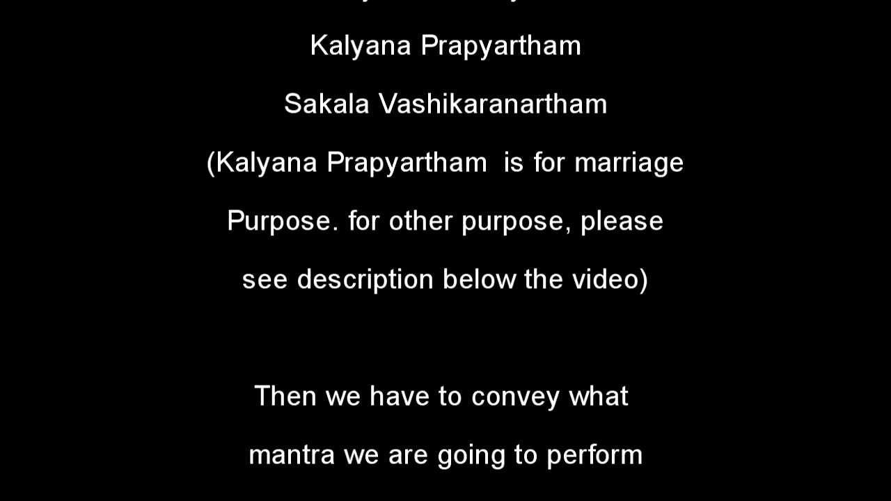 Simple Sankalpa for all kinds of pooja and japa