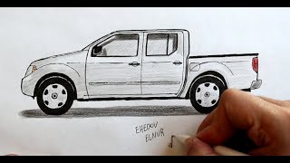Как нарисовать машину Пикап * Любительская работа * (Ehedov Elnur) How to Draw a Car