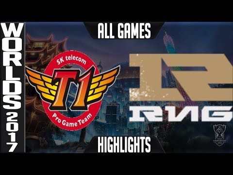 SKT vs RNG Highlights ALL GAMES - Worlds 2017 Semifinals SK Telecom T1 vs Royal Never Give Up Up