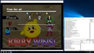 Super Smash Bros. Justase Vs. Robbie vs Cory (N64 kaillera netplay) #2