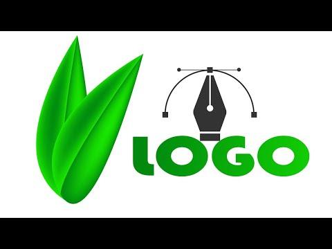 Logo design free Adobe Illustrator tutorial || Green Logo design লোগো ডিজাইন thumbnail