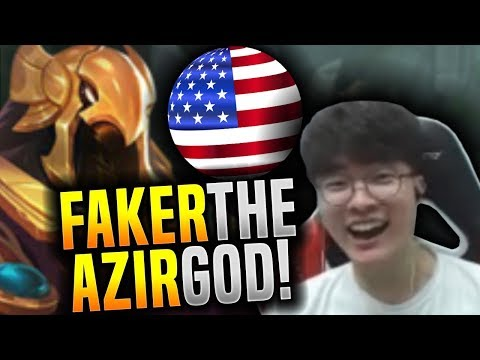 Faker Showing his Azir Power in NA SoloQ! - SKT T1 Faker NA SoloQ Playing Azir ft PraY! | SKT T1 NA