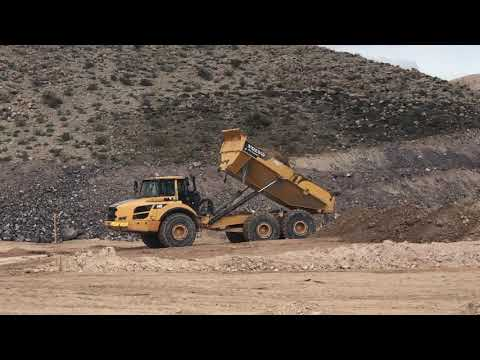 Volvo A40G 40 Ton Articulated Dump Truck Working in Sloan, Nevada