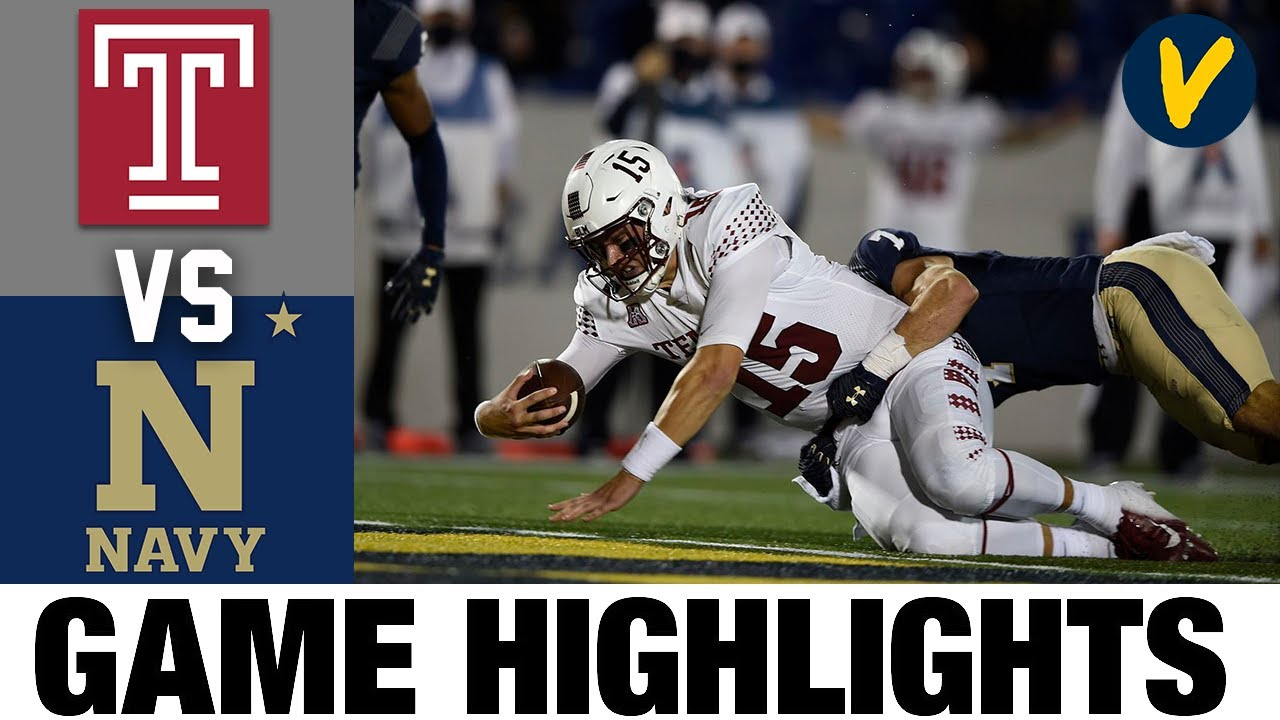 Temple vs Navy Highlights | Week 6 College Football Highlights | 2020 College Football