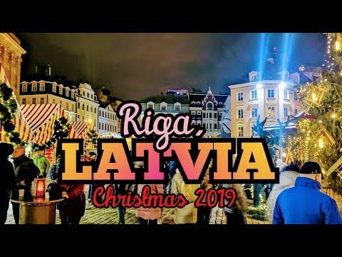Christmas Market in Riga, LATVIA 2019   VLOG81