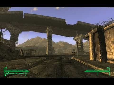 Fallout New Vegas Gameplay, Part 61. Traveling to Nellis Air Force Base (Walkthrough in 1080p HD)