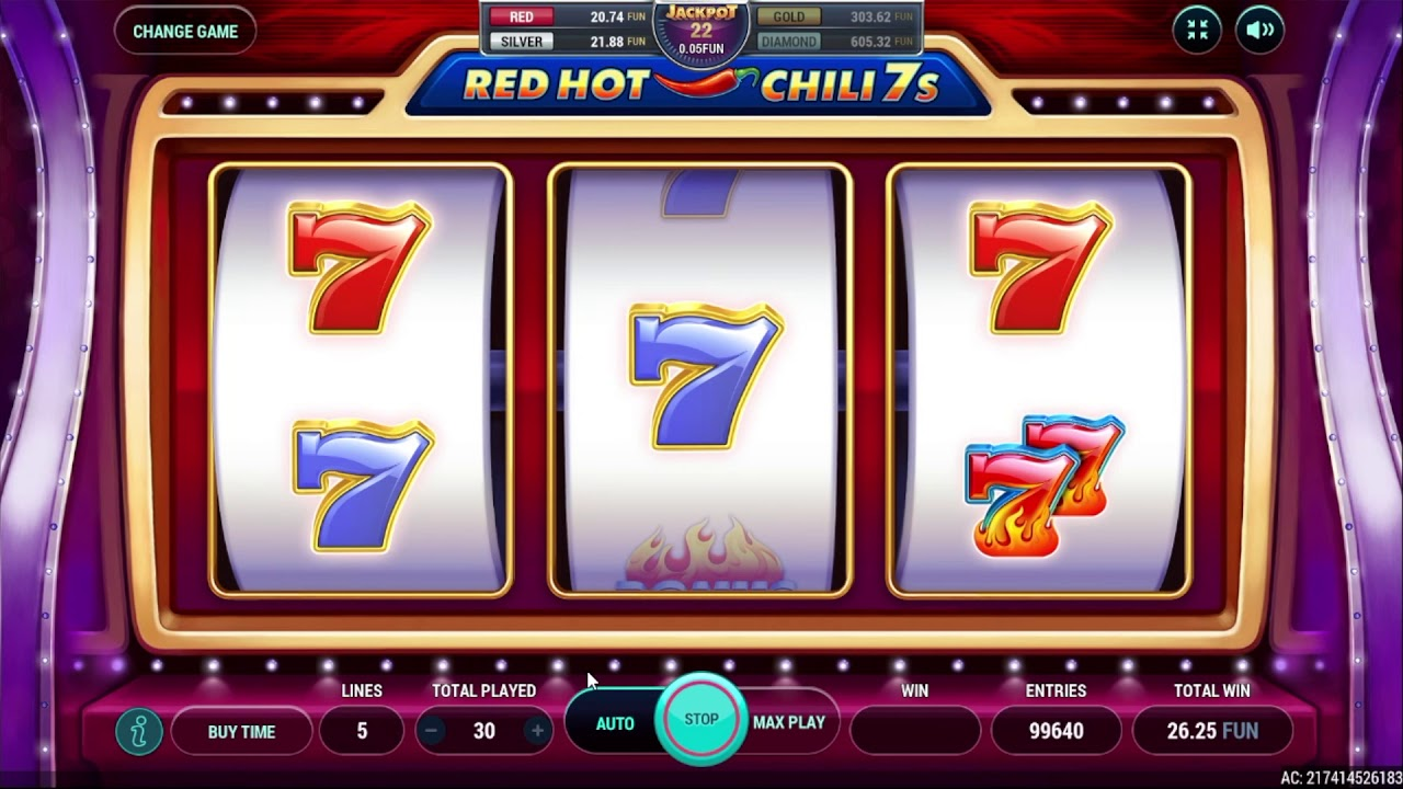 New Game! Red Hot Chili 7's (RiverSweeps Sweepstakes game)