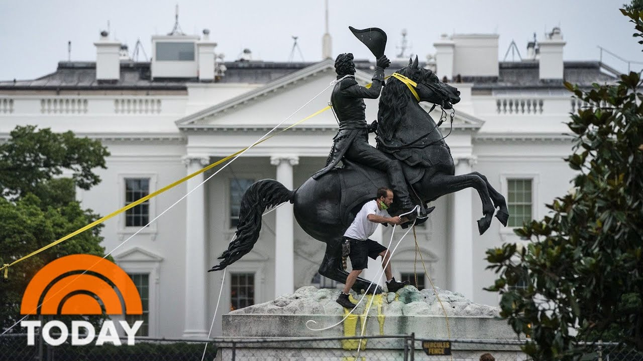 Protesters Try To Tear Down Andrew Jackson Statue In DC As Monument Debate Grows | TODAY
