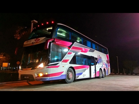 Naik Bus Mewah Double Decker Luar Negeri Nice Imperial Singapore - Kuala Lumpur Scania K420iB