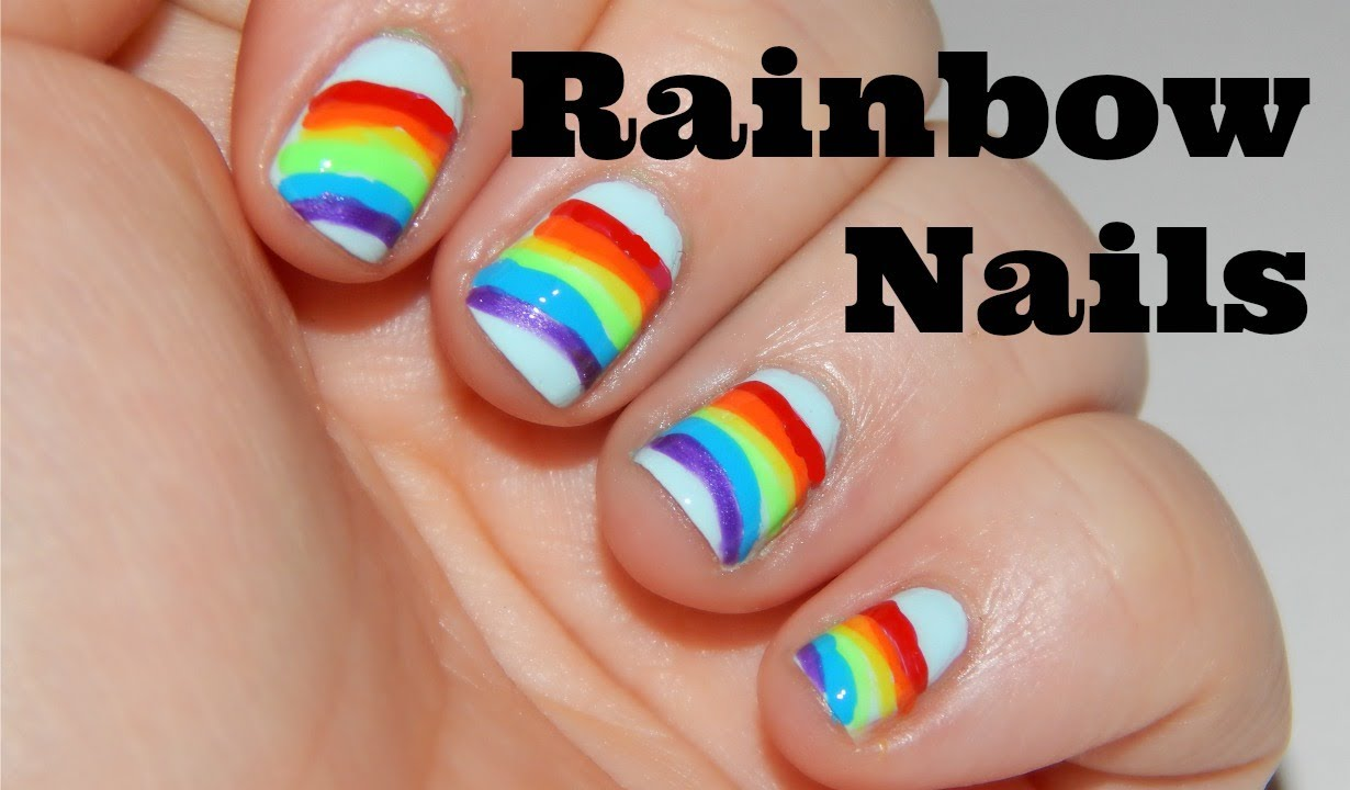 paint rainbow nails