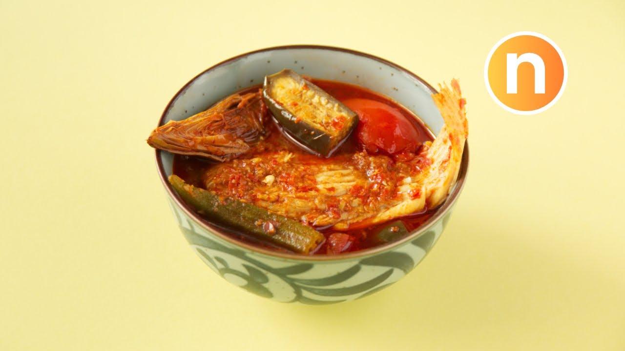 Asam Pedas Ikan Pari | Fish in Asam Curry [Nyonya Cooking]