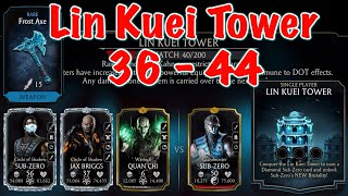 MK Mobile LIN KUEI Tower 36 - 44 Gameplay | Mortal Kombat Mobile Update 2.4.0