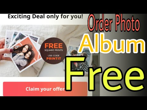 Order photo album for free on Zoomin || Free Personal Photo