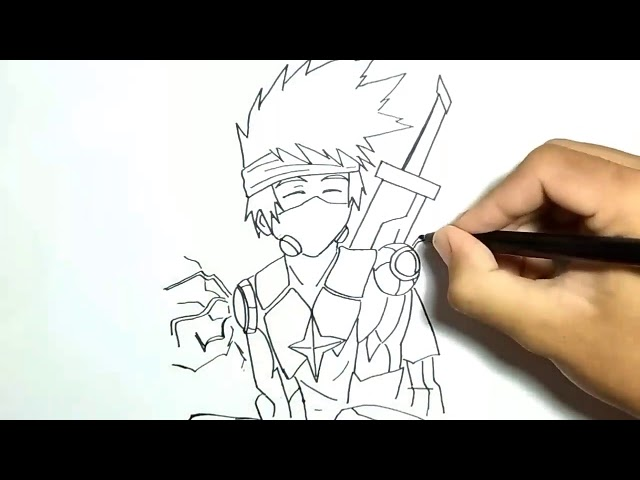 Cara Menggambar Hayabusa Mobile Legends Skin Mirip Kakashi , Sangat Mudah